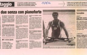 la Gazzetta Sportiva 17 agosto 2006